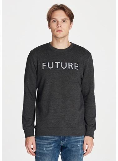 Mavi Future Baskılı Sweatshirt Gri